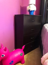 black wooden 3-drawer chest Fort Worth, 76123