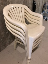 Patio chairs , 4 chaise