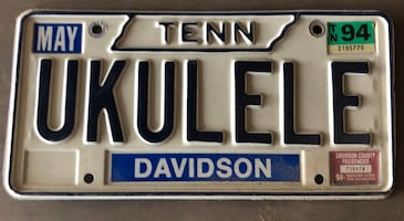 Tennessee Vanity License Plate - UKELELE