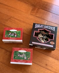 Harley Davidson collection christmas tree ornaments (3). NEW Derwood, 20855