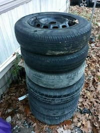 four black vehicle wheels with tires Front Royal, 22630