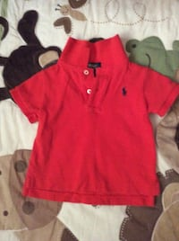 red polo by ralph lauren polo shirt 9 months.