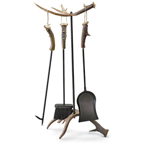 Antler Fireplace Tool Set