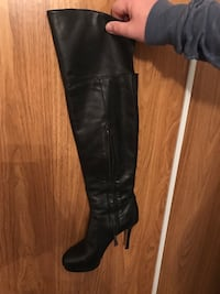 Black soft leather over the knee - very sexy side zip boots Dundas, L9H 6L7