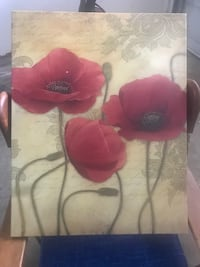 Used Three Red Poppy Flowers Painting For Sale In Copperas Cove Letgo