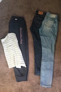 Abercrombie & fitch outfit, 2 pairs of jeans boy & girl. Edmonton, T6W 0K1