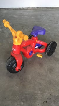 yellow red and purple fisher price trike Blooming Grove, 53558