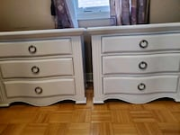 tTwo large refinished solid wood side tables Need gone ASAP Vaughan, L4H 2H2