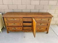 two brown wooden 3-drawer chests Artesia, 90701