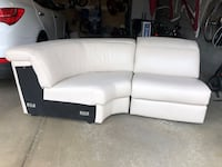 Cream Leather Sectional (Corner