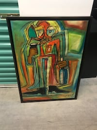brown wooden framed painting of woman Hialeah, 33014
