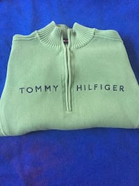 TOMMY HILFIGER SWEATER TURTLE NECK OLIVE RARE