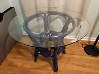 Glass top wicker table Gloucester, 23061