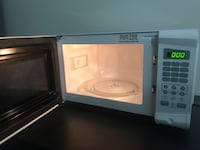 White and black microwave oven Fort Wayne, 46835