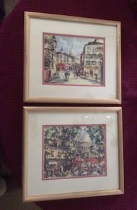 "Prints - by French artist M. Legendre. Double matted in wood frames. Size is 15.5"" 13.5"". Excellent condition- ready to hang. Update- Print on top is sold Hampton, 23661"