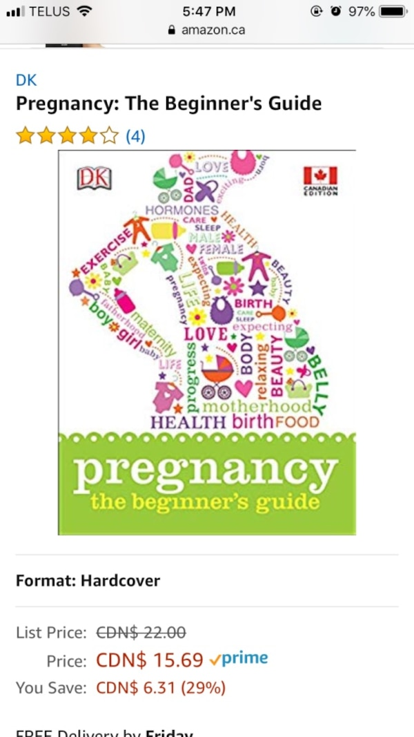 Pregnancy Book (Canadian) brand new in box
