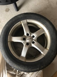17 inch winter tires and rims  Woodstock