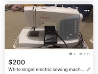 Singers sewing machine it has different kinds of options to choose it just used two times very new one  Surrey, V4N 5S5