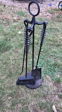 black and gray fire place tool set Concord, 03303