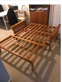 brown wooden slatted bed frame 38 km