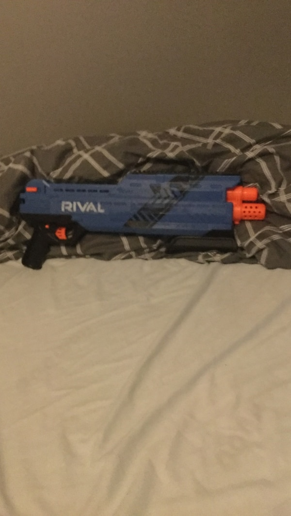 blue and black Rival blaster