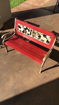 Two child size wood and iron outdoor benches. 2 available. $100 each. Willing to sell separately. Homestead, 33035