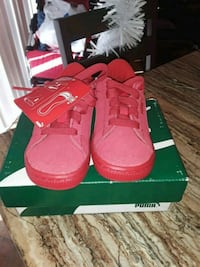 Toddler red puma shoes Greenbelt