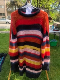 Multi Coloured Striped Oversized Sweater New Westminster, V3L 2X5