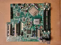 CPU, Motherboard, and heat sink