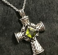 Stainless steel chain necklace with cross pendant 545 mi