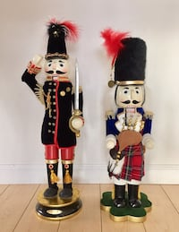 Large 24 -25 inch nutcrackers from Bombay Company $65 each or $100 for both. 2415 mi