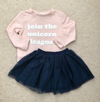 H&M sweatshirt and glitter tulle skirt size 18-24 months  Mississauga, L5M 0H2