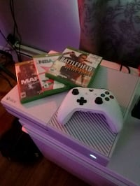 white Xbox One console with controller and game ca New York, 10025
