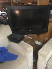 black flat screen TV with remote Edmonton, T5A 4E4