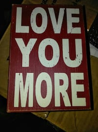 Love You More quotation wall decor Commerce, 30529