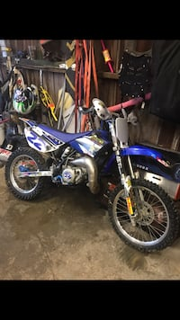 blue and white Yamaha motocross dirt bike Anderson, 46011