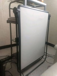 Dry erase two sided easel