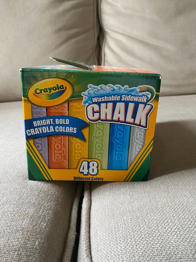Crayola Washable Sidewalk Chalk 48 Pieces All Different Colors NEW