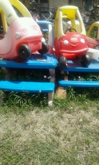 two red and blue ride on toys Austin, 78728