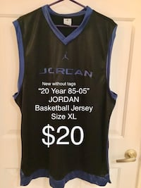 New without tags JORDAN Basketball Jersey, Size XL