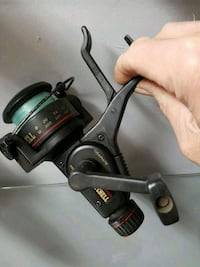 black fishing reel Duncan, V9L 1M8