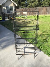 Black shelving unit Modesto, 95355