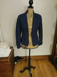 Ladies lightweight blue blazer size small 234 mi