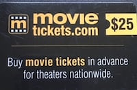 movietickets.com $25 gift card Centreville