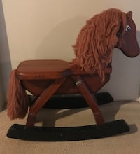 Handcrafted, solid wood rocking horse MISSISSAUGA