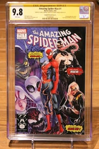 Amazing Spider-Man #1 CGC SS 9.8 Jamal Campbell Variant SIGNED! Mississauga, L5N 7V4