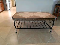 Coffee table with tiled top. 896 mi