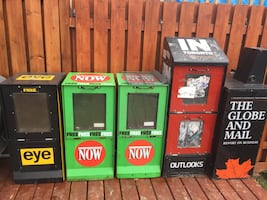 Newspaper stand boxes