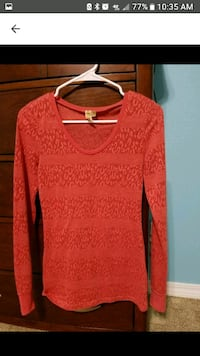 red scoop-neck long-sleeved shirt screenshot Moss Point, 39562