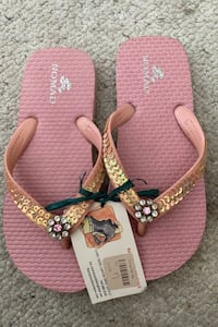 NEW Nomad pink with flower glass beads GIRLS size 7 Temecula, 92592